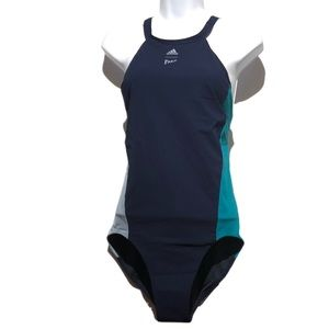 "Adidas Parley Infinitex Navy 38"" Fitness Swim Suit"